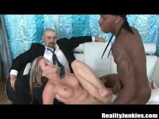 Interracial cuckold cumshot compilation