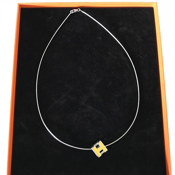 Hermes Silver Cage Dh Necklace