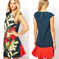 27dbf01dc820 Ted Baker Dresses Oriental Flower Pleated Shift Dress Poshmark