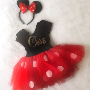 Costumes One Year Old Minnie Mouse Birthday Outfit Poshmark