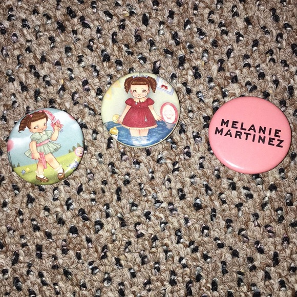 set of melanie martinez pins buttons