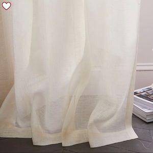 x4 west elm sheer belgian flax linen curtain 84