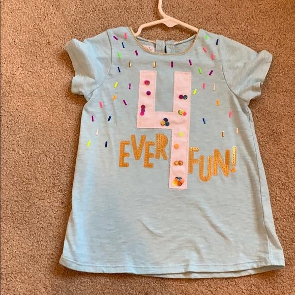 Mud Pie Shirts Tops Mudpie 4 Ever Fun Birthday Shirt Poshmark