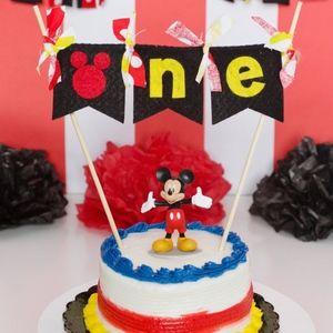 Myself Party Supplies Mickey Mouse St Birthday Cake Topper Poshmark