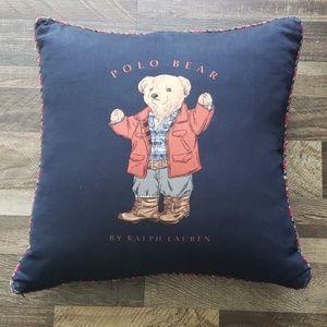 ralph lauren polo bear pillow
