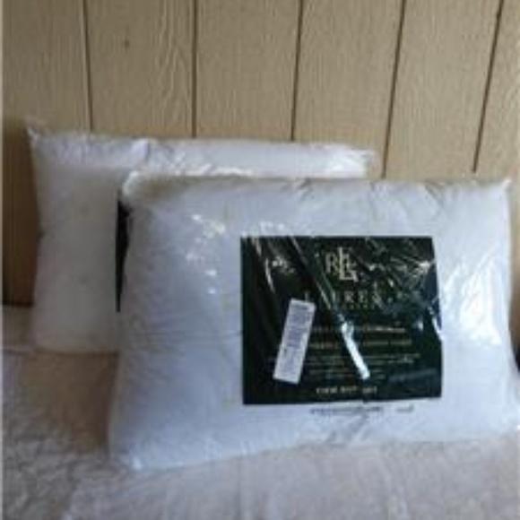 2 ralph lauren logo firm density standar pillows