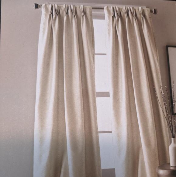 beige dkny 2 windoy panels curtains