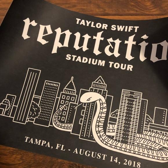 nwt taylor swift tampa fl reputation tour poster