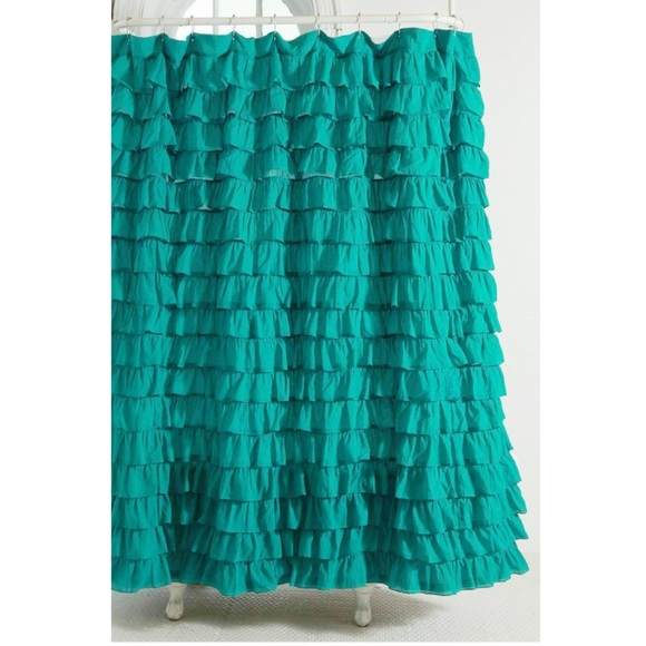 urban outfitters waterfall ruffle shower curtain