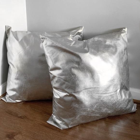 bebe silver throw pillows online