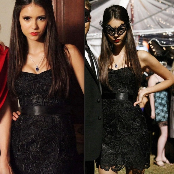 Black Lace Dress Aso Katherine