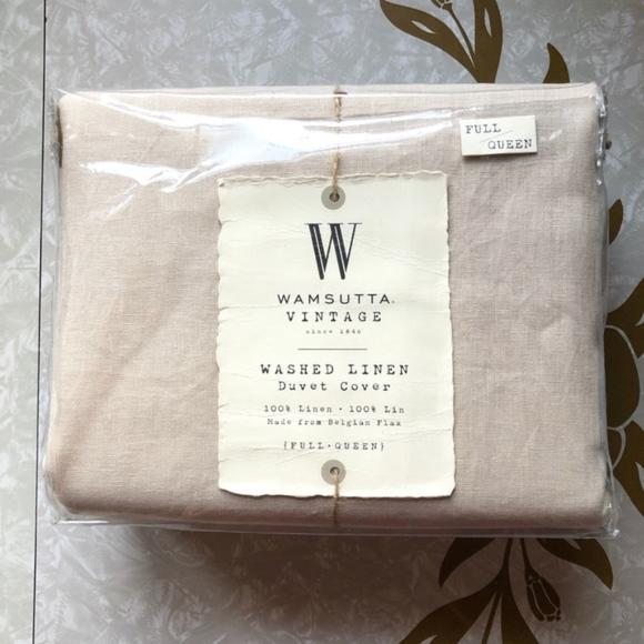Wamsutta Vintage Bedding Nwt Wamsutta Vintage Washed Linen Duvet Cover Poshmark