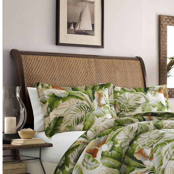 tommy bahama palmiers pillow shams flanged leafs