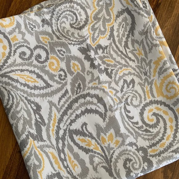 threshold boho gray and gold shower curtain