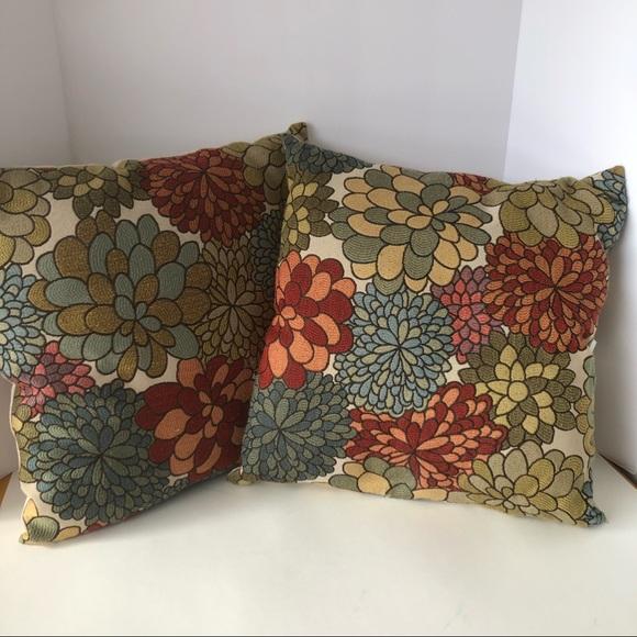 better homes garden mums throw pillows