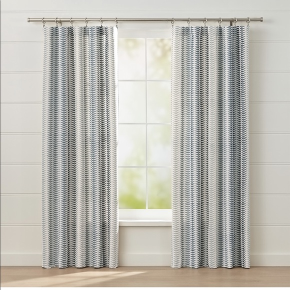 crate and barrel carmelo pattern curtains