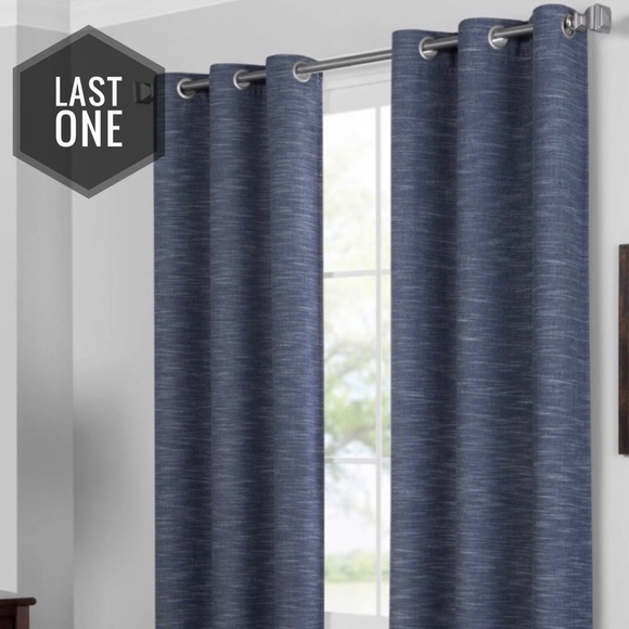 aprima indigo blackout curtain panel pair 84
