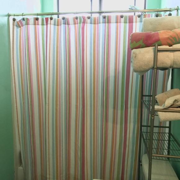 pottery barn teen fabric shower curtain