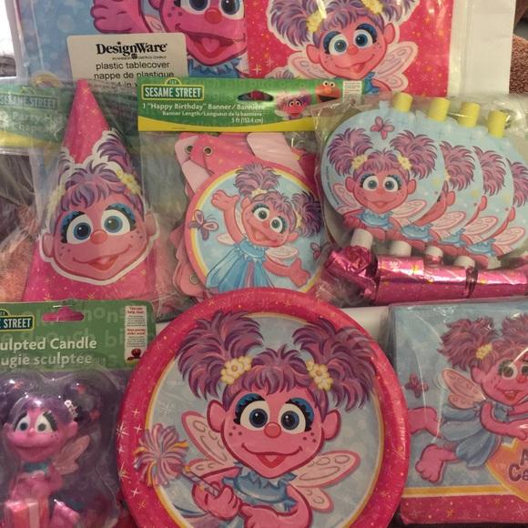 Sesame Street Party Supplies Abby Cadabby Birthday Party Set Sesame Street Poshmark