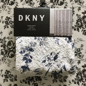 dkny lefferts white blue lefferts shower curtain