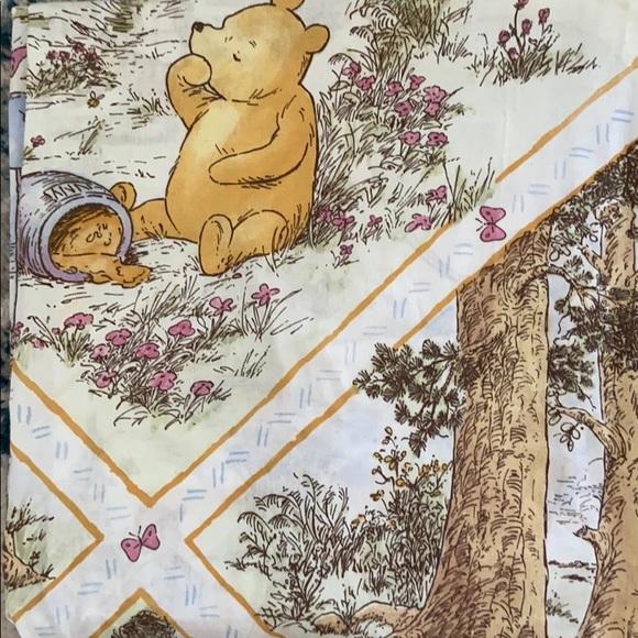 classic winnie the pooh fabric shower curtain