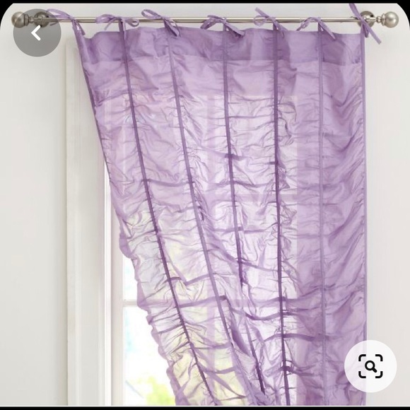 ruched sheet curtains