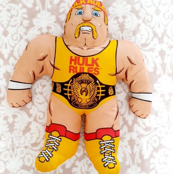 wwf hulk hogan stuffed wrestling buddy vintage