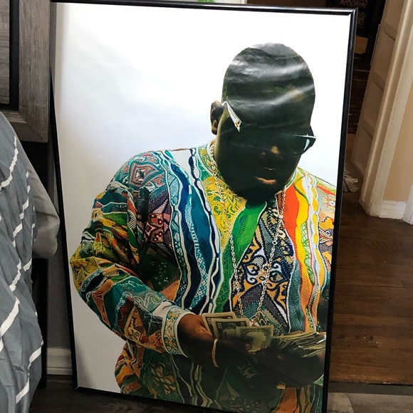 biggie smalls poster frame not included