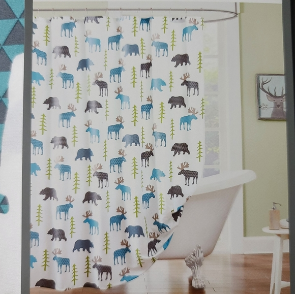 hipstyle dakota shower curtain moose and bear