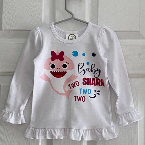 Shirts Tops Baby Shark Birthday Shirt Second Birthday Poshmark