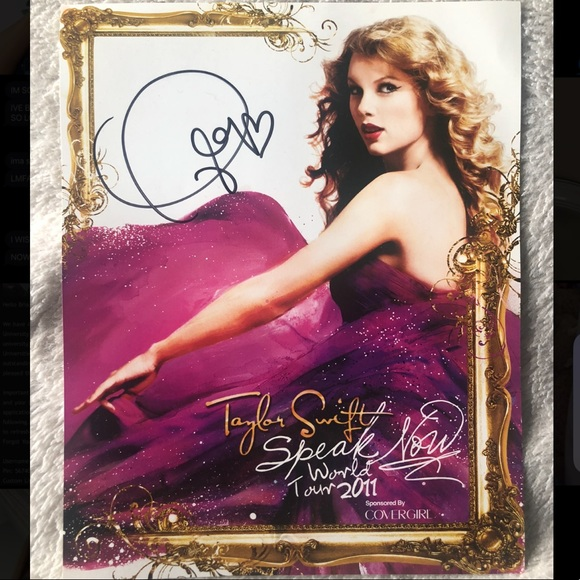 autographed taylor swift poster