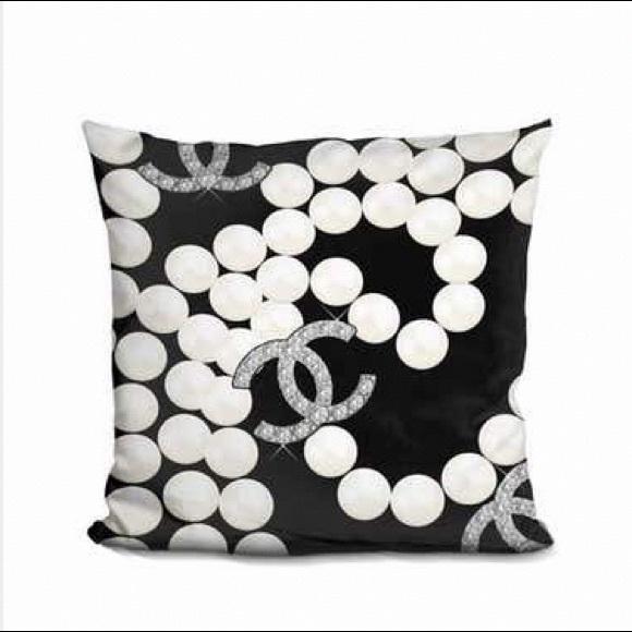 coco chanel fashion decorative pillow