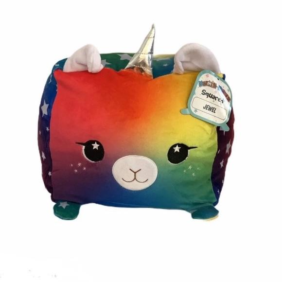 moosh moosh nwt mabel rainbow plush stuffed animal