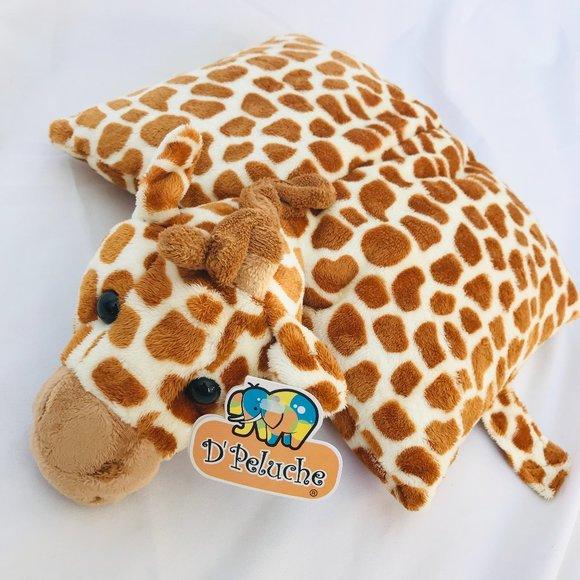 d peluche giraffe pillow pet