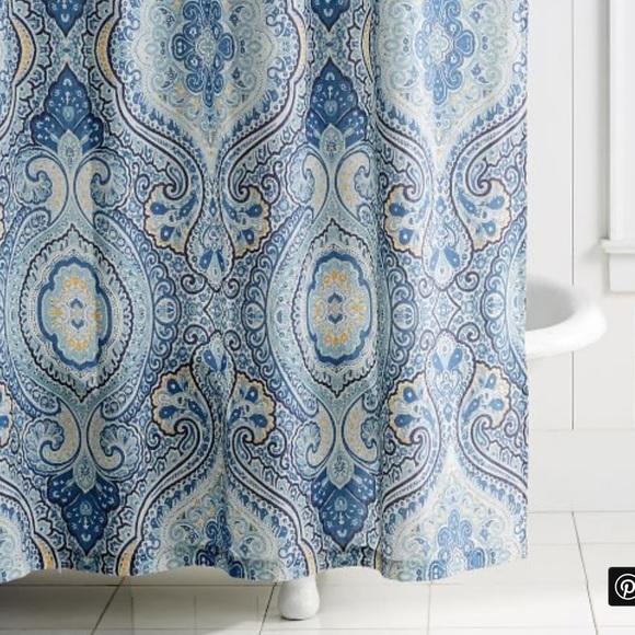pottery barn beale paisley shower curtain 72x72