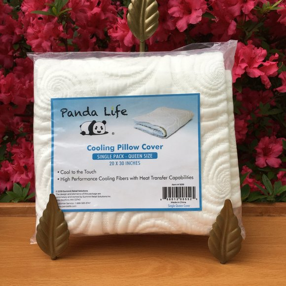 panda life cooling pillow cover queen nwt