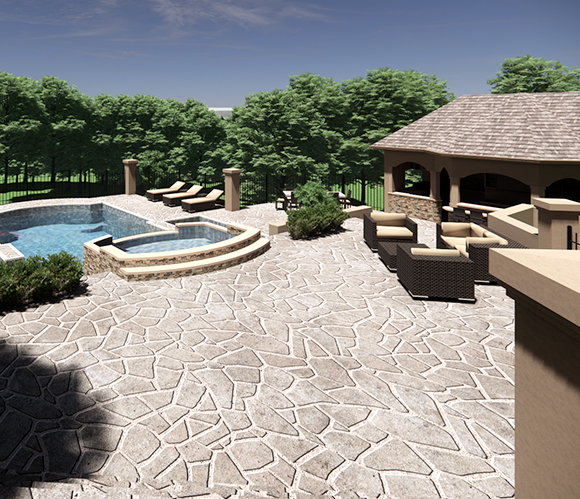 Resort Style Pool and Bath House (2)