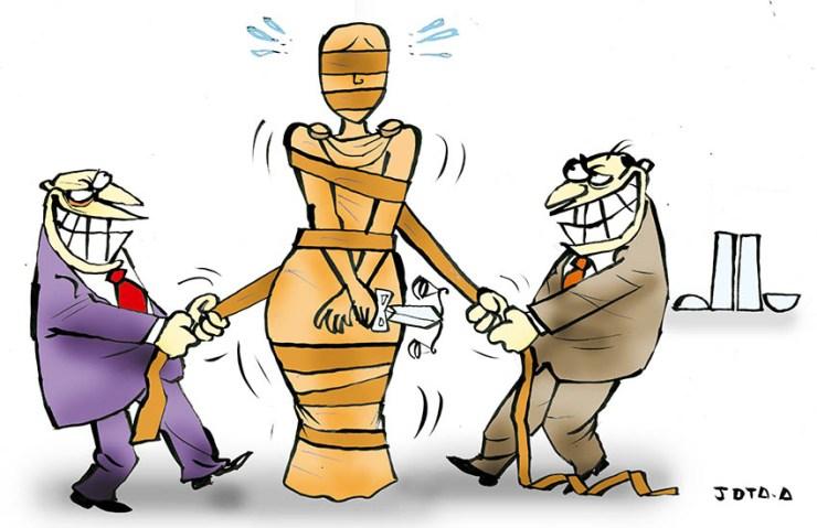 Resultado de imagem para charge justiça