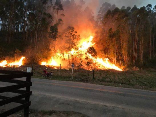 Ibitirama registra dois incêndios no último fim de semana do inverno