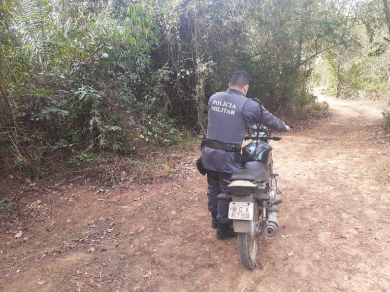 PM recupera moto roubada após perseguição em Atílio Vivácqua