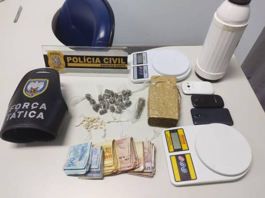 Suspeitos de tráfico de drogas são presos durante ação em Jerônimo Monteiro