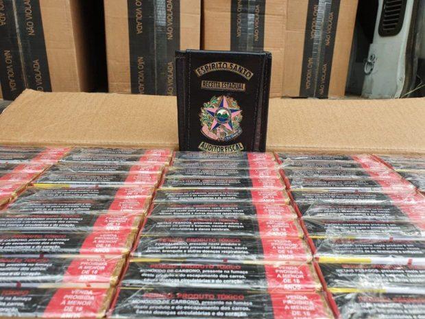 Carga de cigarros de R$ 907 mil é apreendida em Itapemirim e Guarapari