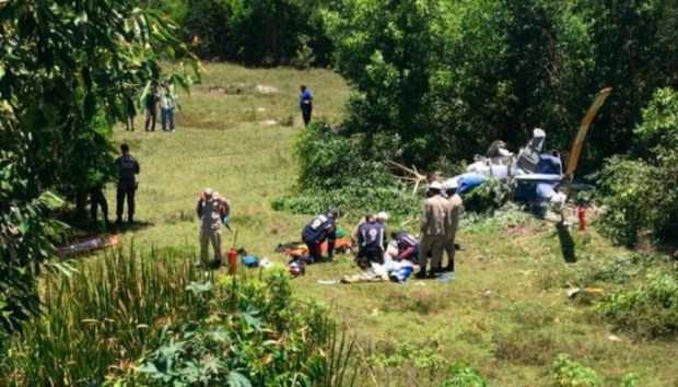 Casal de namorados que voltava de Guarapari morre em queda de helicóptero