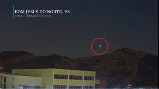 Meteoro flagrado por câmeras do Espírito Santo, Minas, São Paulo e Rio de Janeiro