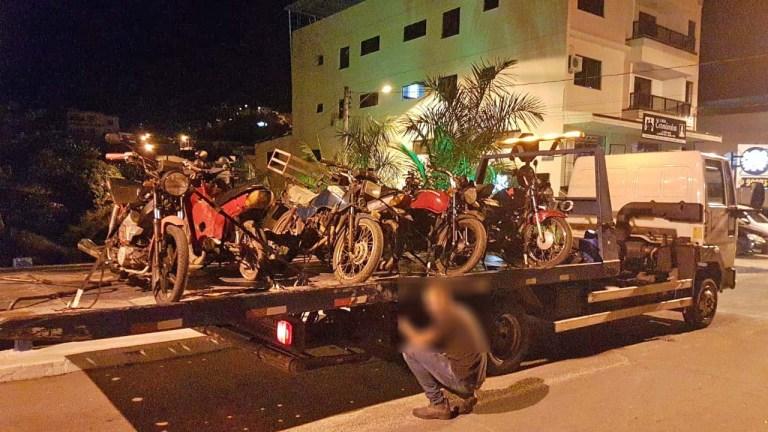 Com a reativação de pátio do Detran, PM intensifica blitz a motos irregulares no Sul