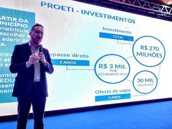 Estado investirá R$ 270 milhões em escolas municipais de tempo integral