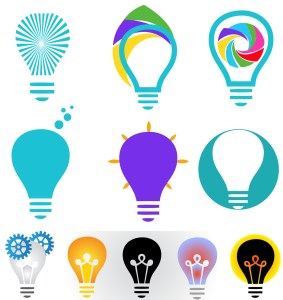 Creative bulb icon collection