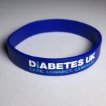 Diabetes UK supporter wristband.