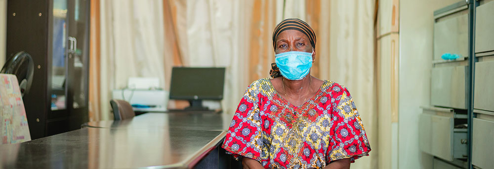 A person participating in the WHO Diabetes and Hypertension Screening Campaign in Kinshasa