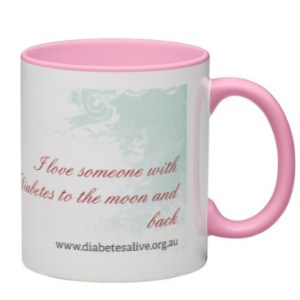 Mug - I love someone with diabetes to the moon and back